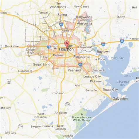 map of houston tx area maps tour