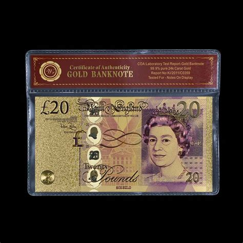 aliexpress gbp aliexpress com buy coloured british gold banknote 20 gbp