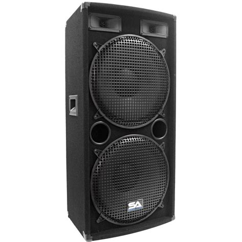 Speaker Subwoofer 15 Inchi seismic audio pair of dual 15 inch pa dj speakers 1000