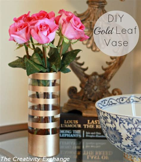How To Paint On Glass Vases by Diy Gold Leaf Vase How To Paint On Glass