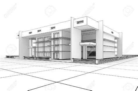 3d House Sketch sketches of modern houses google search things to draw