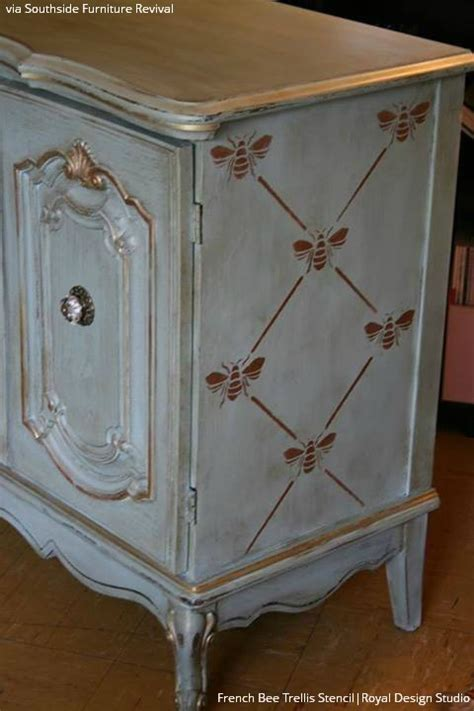 Furniture Stencil by Chalking Up The Secret To Vintage Furniture Stencils Paint Pattern