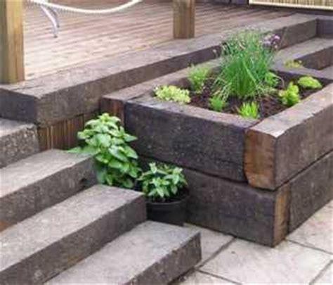 wooden railway garden sleeper new softwood free