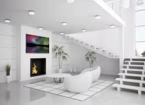 modern white interior of living room 3d render interior