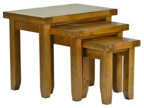 Gt products gt natural rustic oak gt natural rustic oak nest of tables