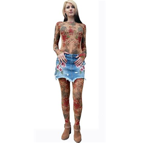 tattoo body suit costume fake tattoo body suit costume tattoo ideas ink and rose