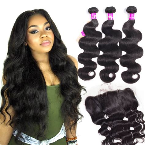 where to get body wave hair houston brazilian body wave hair 3 bundles with frontal tinashehair