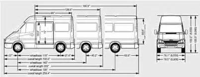 Mercedes Sprinter Height Mercedes Sprinter Passenger Dimensions