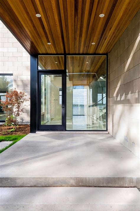 Glass Front House by Glass Front Door Riverside Home In Ottawa Canada