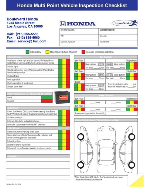 vehicle inspection form new calendar template site