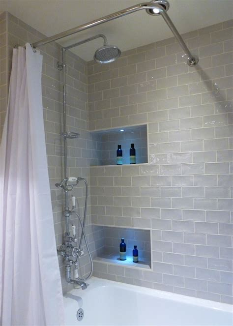 bathroom storage ideas recessed shower caddy kitchen