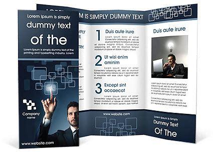 brochure template neooffice touchscreen button brochure template design id