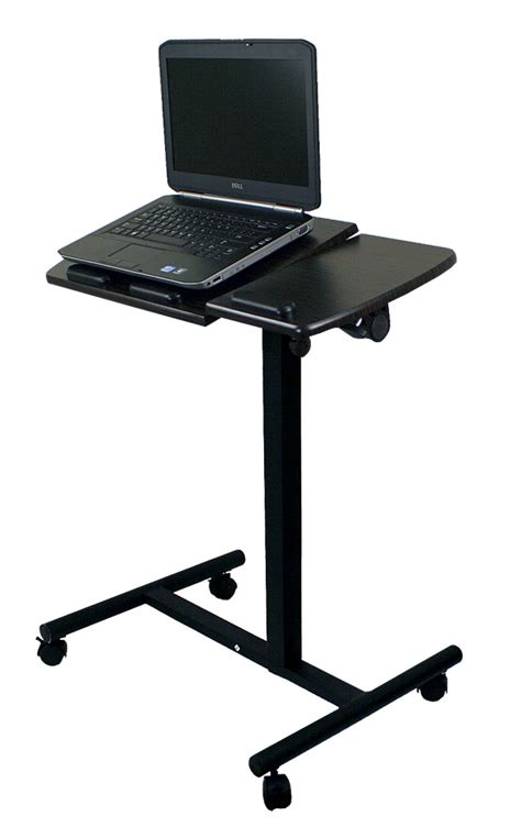 Laptop Desk Cart New Portable Notebook Laptop Rolling Table Cart Tv Stand Tiltable Tabletop Desk Ebay