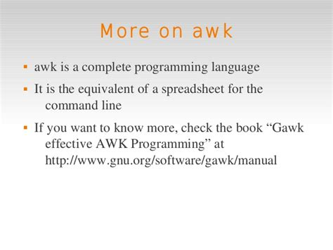 the awk programming language linux intro 5 extra awk