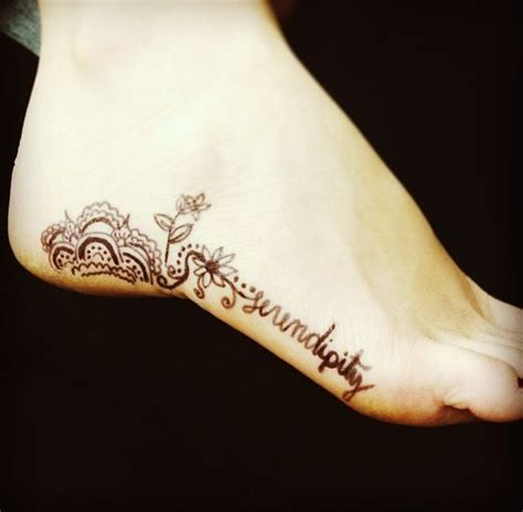 foot tattoos writing designs 25 best ideas about serendipity on