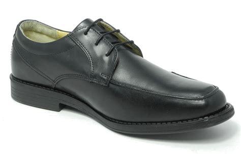 comfortable mens black work shoes mens tredflex black leather comfort memory foam smart
