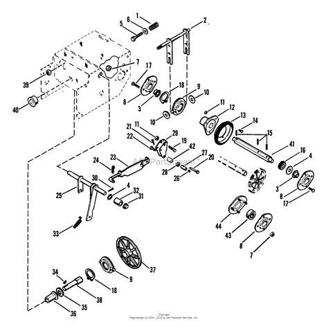 ariens parts diagrams ariens 932022 000101 st724 7hp tec 24 quot blower