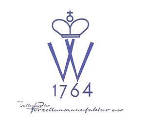 Porzellanmarken Krone W by Wallendorfer Porzellan