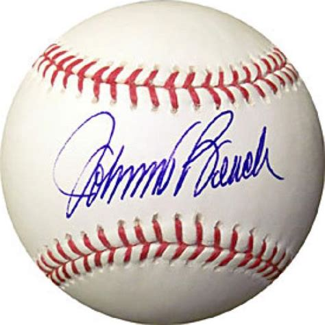 johnny bench autograph johnny bench autographed baseball jsa