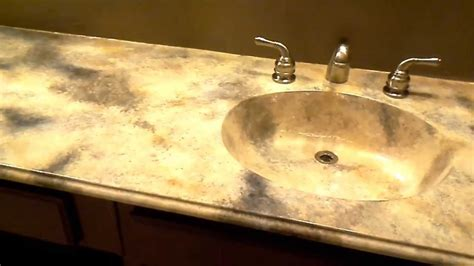 faux marble bathroom countertops faux marble bathroom countertop youtube