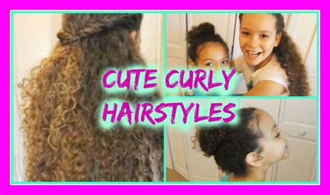 cute short hairstyles for bi racial hair cute hairstyles for curly hair youtube