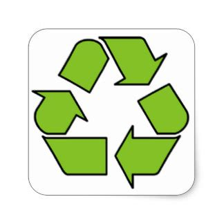 10 000 recycling stickers and recycling sticker designs