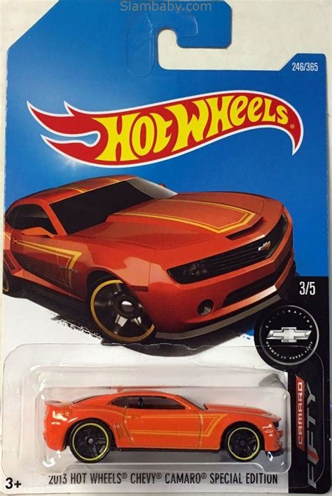 hot wheels  chevy camaro special edition orange