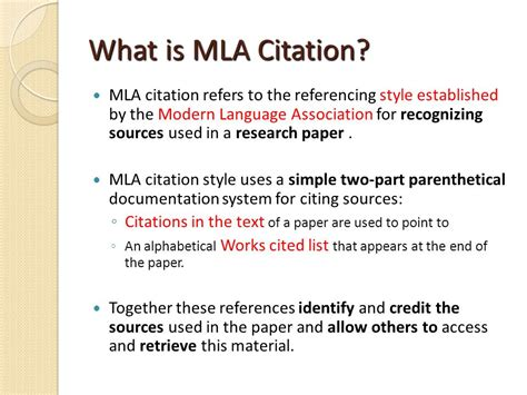 Reference List The Sources Used At The End Of The Essay by Mla Guidelines Adapted From Bakersfield College Library And Purdue On Line Writing