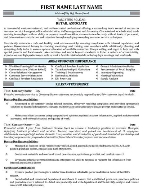 Resume Target Inc Toronto by Retail Associate Resume Sle Template