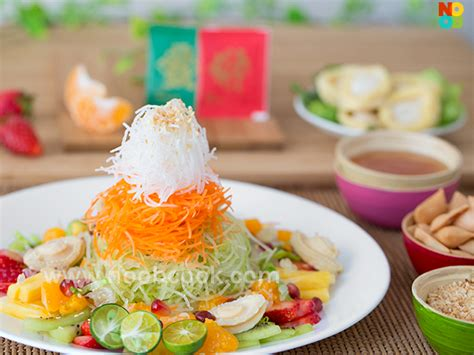 yu sang new year salad recipes fruits yu sheng fruits yee sang noob cook recipes