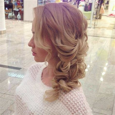 Homecoming Hairstyles Side Swept | 20 pretty side swept hairstyles for prom hairiz