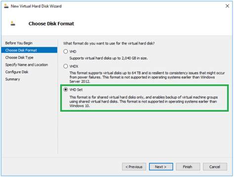 format hard drive powershell windows server 2016 introduction to hyper v vhd set