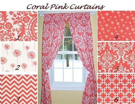 coral patterned curtains coral patterned curtains bedroom curtains
