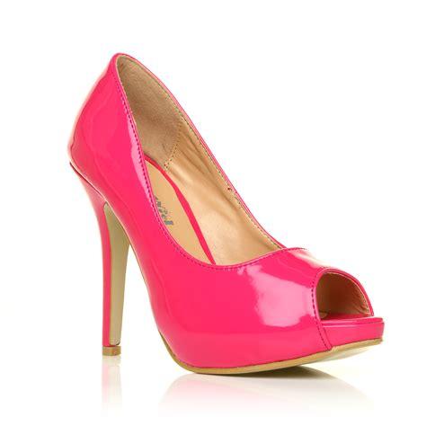 high heels size 3 new court shoes stiletto high heels peep toe