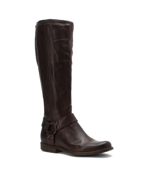 extended calf boots frye s phillip harness extended calf boots in