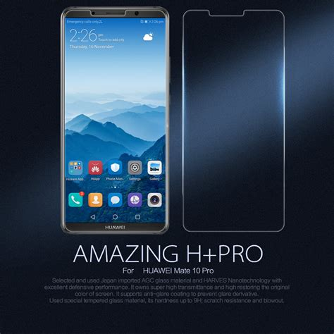 antigores clear brandcode mate8 nillkin amazing h pro tempered glass screen protector for