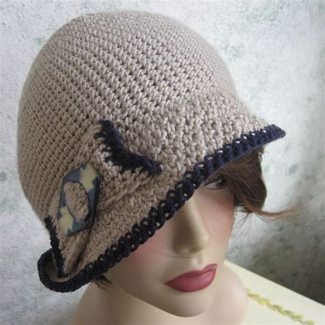 cloche and crochet hats with bow womenitems