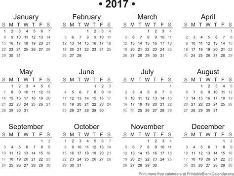 Calendar For 2017 2017 Calendar