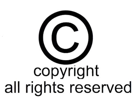 Copyright Symbol All Rights Reserved