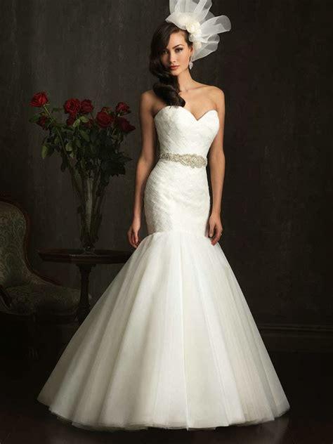 white mermaid wedding dress with diamondsWedWebTalks