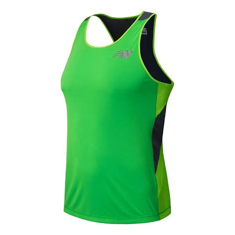 mens new balance excel race day singlet tank technical top