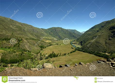 View Of The Sacred Valley Stock Photo Image 97115741 Valley View Landscaping