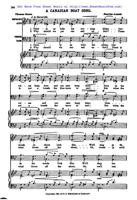 skye boat song jay althouse free sheet music for a canadian boat song arnold maurice