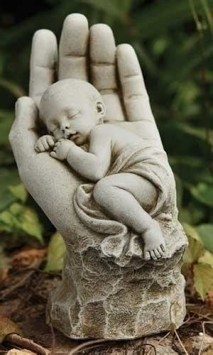 In The Palm of Gods Hand Memorial Miscarriage Baby Statue