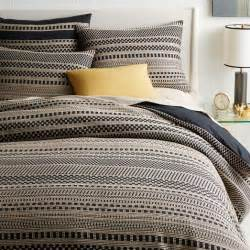 Taupe Duvet Covers Organic Washed Woven Dot Duvet Cover Shams West Elm