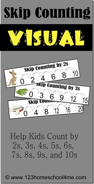 skip counting printables  homeschool deals
