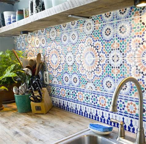 How To Install A Glass Tile Backsplash In The Kitchen moroccan inspired tiles in the kitchen wall tiles