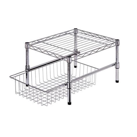 wire cabinet shelf organizer metal table w basket 17 steel shelf w basket cabinet