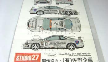 Ebbro Nissan Skyline Gt R R34 Daishin N1 1 24 nissan gtr r34 metal logo hobby design car model