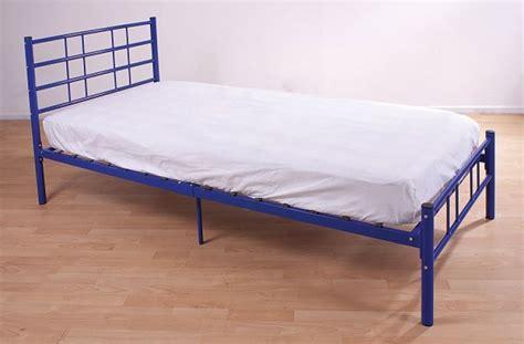 blue bed frame blue metal bed frame 28 images save big on bearcat metal bed frame blue gfw 3ft